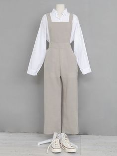 Smart Casual Outfit, Casual Hijab Outfit, Casual Dresses, Casual Outfits, Casual Pants, Jumpsuit Hijab, Jumpsuit Outfit, Pants Outfit, Korea Fashion