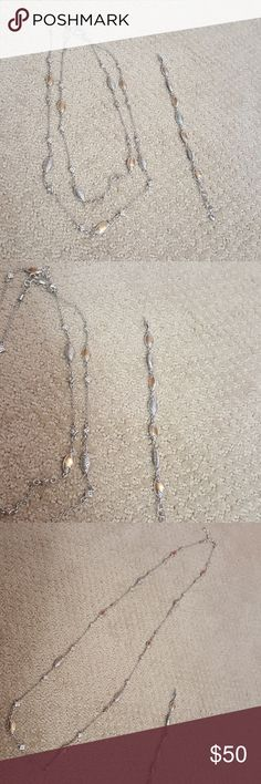 Brighton layering necklace and bracelet set Great condition. Feel free to ask questions and make offers Brighton Jewelry