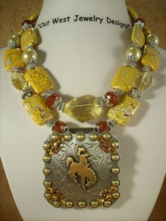 yellow western necklace