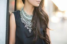 Silver Surfer :: Statement necklaces & Embellished pumps | Wendy's Lookbook