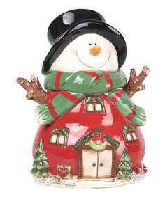 Victorian Snowman Cookie Jar