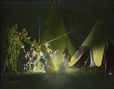 Dancing in the Firelight.  Indian reservations--Montana.   Collection Richard Throssel. Date Original:1902-1933.  University of Wyoming. American Heritage Center.