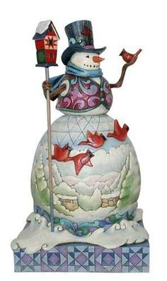 Jim Shore Heartwood Creek Winter on The Wing Cardinal Snowman Figurine 4015136 Jim Shore Christmas, Christmas Mom, Christmas Snowman, All Things Christmas, Christmas Crafts, Christmas Decorations, Xmas, Holiday Decorating, Vintage Christmas
