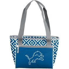 Logo NFL Detroit Lions DD 16-Can Cooler Tote, Blue