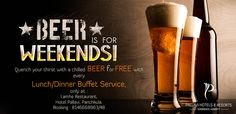 Weekend gets more fun when you enjoy a free chilled #beer with your lunch/dinner buffet service at Lamhe #Restaurant.