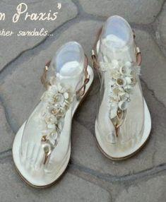 Χρυσά σανδάλια «Ναυσικά»- Handmade silk cocoons sandals «Nafsika gold» – Είδη Γάμου – Βάπτισης | Διοργάνωση Γάμου – Βάπτισης | OneironPraxis.gr Bridal Sandals, Silk, Sneakers, Handmade, Shoes, Fashion, Tennis, Moda, Slippers