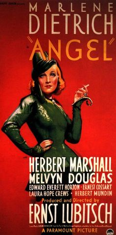 """In """"Angel: (1937) Marlene Dietrich teamed up with her fellow German refugee, Ernest Lubitsch for a lurid melodrama that nevertheless showcased her timeless appeal and sense of style. Her costumes for this movie are divine."""