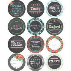Mason Jar Labels, FREE Printable