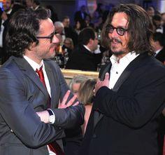 Robert Downey Jr. and pal Johnny Depp.