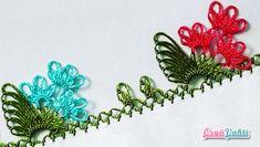 İğne Oyası Yeşil Çiçek Modeli Yapılışı Videolu Anlatımlı #moda #hobi #hobby #örgü #elişi #kadın #handmade