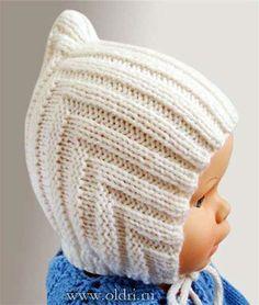 Руководство по вязанию детской теплой шапки Размер: 3-12 мес. и 1-2 года Детская шапочка связана одной деталью, сложенной пополам и сшитой сзади, к которой затем пришита узкая планка вдоль нижнего ...