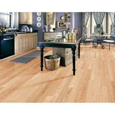 Millstead Red Oak Natural 3/8 in. Thick x 4-1/4 in. Wide x Random Length Engineered Click Hardwood Flooring (20 sq. ft. /case)-PF9356 at The Home Depot