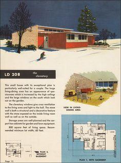 Mid century house plan   Prefab   Modular   Factory built   [1950s]