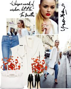"""""""white blazer and jeans"""" by shinystar on Polyvore"""