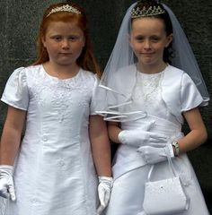 Confirmation for cousins at St. Mary's in Kilkenny, Ireland