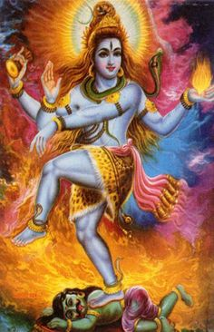 Lord Shiva -- represents the aspect of the Supreme Being (Brahman of the Upanishads) that continuously dissolves to recreate in the cyclic process of creation, preservation, dissolution and recreation of the universe. As stated earlier, Lord Shiva is the third member of the Hindu Trinity, the other two being Lord Brahma and Lord Vishnu