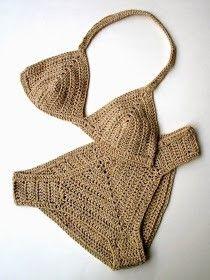 Virkatut bikinit