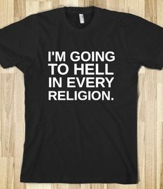 I'M GOING TO HELL - glamfoxx.com - Skreened T-shirts, Organic Shirts, Hoodies, Kids Tees, Baby One-Pieces and Tote Bags