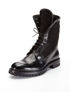 Leather and Shearling Boots by Antonio Maurizi on Gilt.com