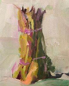 """Jan Wier on Instagram: """"Palette to plate? Still life demo Friday, dinner Monday. About time I paint something healthy!😘#janwierart #asparagus #oilpainters…"""" Oil Painters, Still Life, Archive, Palette, Gallery, Asparagus, Artist, Friday, Painting"""