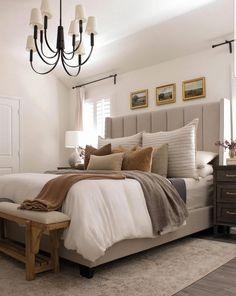 Room Ideas Bedroom, Home Decor Bedroom, Mirror In Bedroom, Farmhouse Bedroom Decor, Master Bedroom Design, Rustic Master Bedroom, Master Bedrooms, My New Room, House Rooms