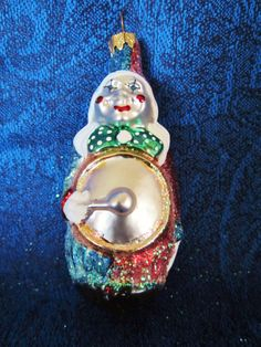 Clown Musician Christmas Ornaments by NowAndThenConnection on Etsy