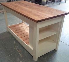 Handmade Kitchen Island With Painted Base   Handmade kitchens ...