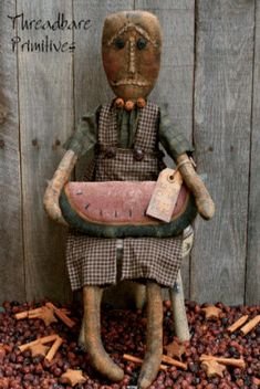 Primitive Folk Art Black Doll  ᶫᵒᵛᵉ