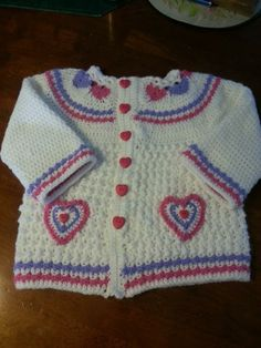 FAN-tastic Friday Week 1 submission by Laurie Sullivan#patternparadise #crochet #crochetsweater #Heartsoflove #sweater #cardigan #cardi #hearts