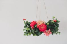I know these are fake & you probably can't/shouldn't do a chandelier, but love the colors & arrangement for you!