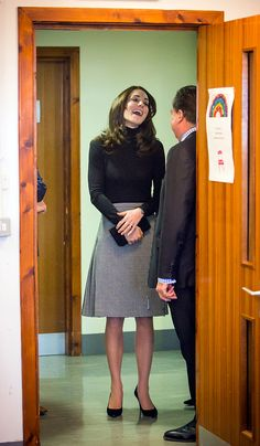 EDINBURGH, SCOTLAND - FEBRUARY 24: Catherine, Duchess of Cambridge visits Wester Hailes Education Centre in Edinburgh on February 24, 2016 in Edinburgh, Scotland. (Photo by Danny Lawson - WPA Pool/Getty Images)