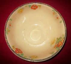 """Image detail for -RARE Large Yellow Ware Harker 1840 Pottery Kitchen Mixing Bowl 12"""" x 5 ..."""