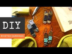 How To Make Riveted Seed Bead Wire Wrapped Earrings - YouTube