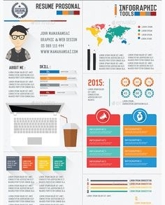 infographic style resume template ver 2 infographic resume