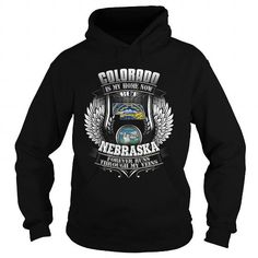 038-COLORADO IS MY HOME NOW BUT NEBRASKA FOREVER RUNS THROUGH MY VEINS T-Shirts, Hoodies (39.95$ ==► Shopping Now!)