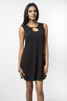Black Ray Shift Dress www.pleatedempire.com