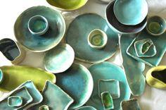 assorted stoneware splash