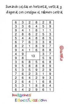 Sopas de Numeros Repasamos la suma (11)