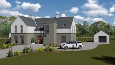 mod057 House Designs Ireland, Bungalow Exterior, House Exteriors, House 2, New Builds, Building A House, House Plans, Yard, Homes