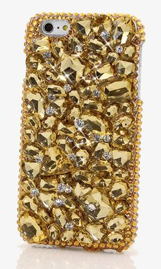 Golden Stones Design bling case made for iPhone 6s Plus. crystals iPhone 6 case,  iPhone 6 plus swarovski crystals cover, bling Samsung Note 5 case,  crystals Samsung galaxy s6 case,  handmade iPhone 6 cases,  personalized bling cases available at http://luxaddiction.com/collections/3d-designs/products/golden-stones-design-style-812