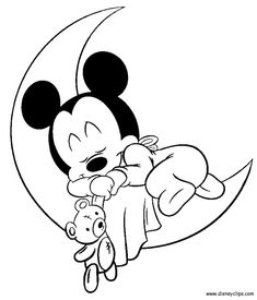 Mickey Mouse Baby Svg Picture Silhouette Projects Pinterest