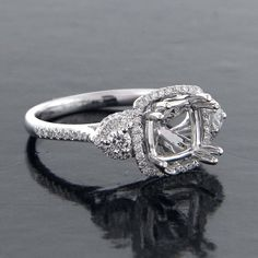 Engagement Ring Mounts For Large Square Stone 26