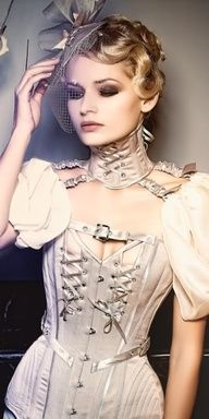 Corsets and training colors are amazing and fun, especially when they have puffed sleeves...