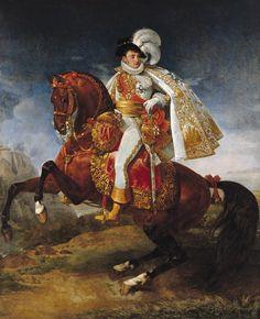 Equestrian portrait of Jerome Bonaparte, looking almost as fabulous as Murat!