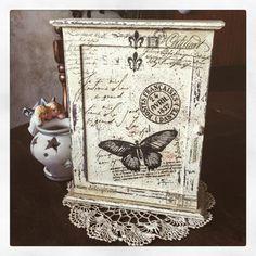 Vintage Butterfly Key Box