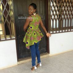 azda ankara top/ Ankara shirt / African top / African dress