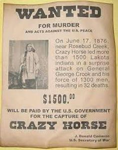 Crazy Horse Wanted Poster, Western, Old West, Indian, Lakota Native American Images, Native American Wisdom, Native American Tribes, Native American History, American Indians, Native American Legends, American Bison, Crazy Horse, Le Far West