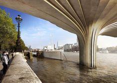 Arup Reveals Image Of Heatherwick's Garden Bridge 'cupro-nickel' Cladding
