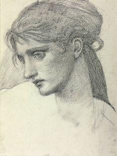 Sir Edward Coley Burne-Jones, Bt, 'Study of a Girl's Head' 1866