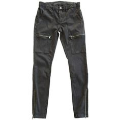 Blank NYC Cargo Pant (110,470 KRW) ❤ liked on Polyvore featuring pants, capris, hunter, cropped capri pants, cropped cargo pants, blanknyc, cargo trousers and zipper pants